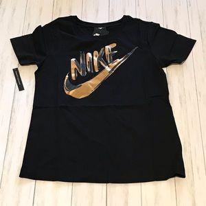 Nike Women's Sportswear Metallic Logo Shirt